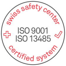 Certified System SWISSTS ISO 9001 - ISO 12485